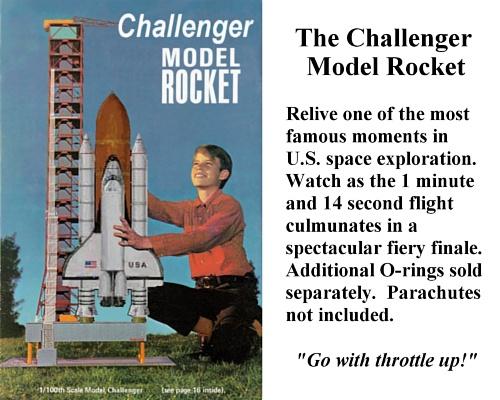 Challenger Model Rocket